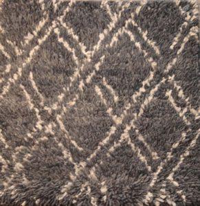 Diamond Grid Shag Rugs